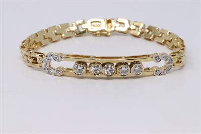 18KT Ladies Diamond Bracelet
