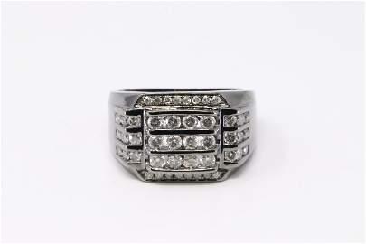 Black Rhodium Diamond Ring