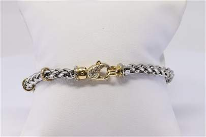 18KT/Platinum Diamond Bracelet