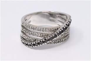 14k Modern Design diamond ring