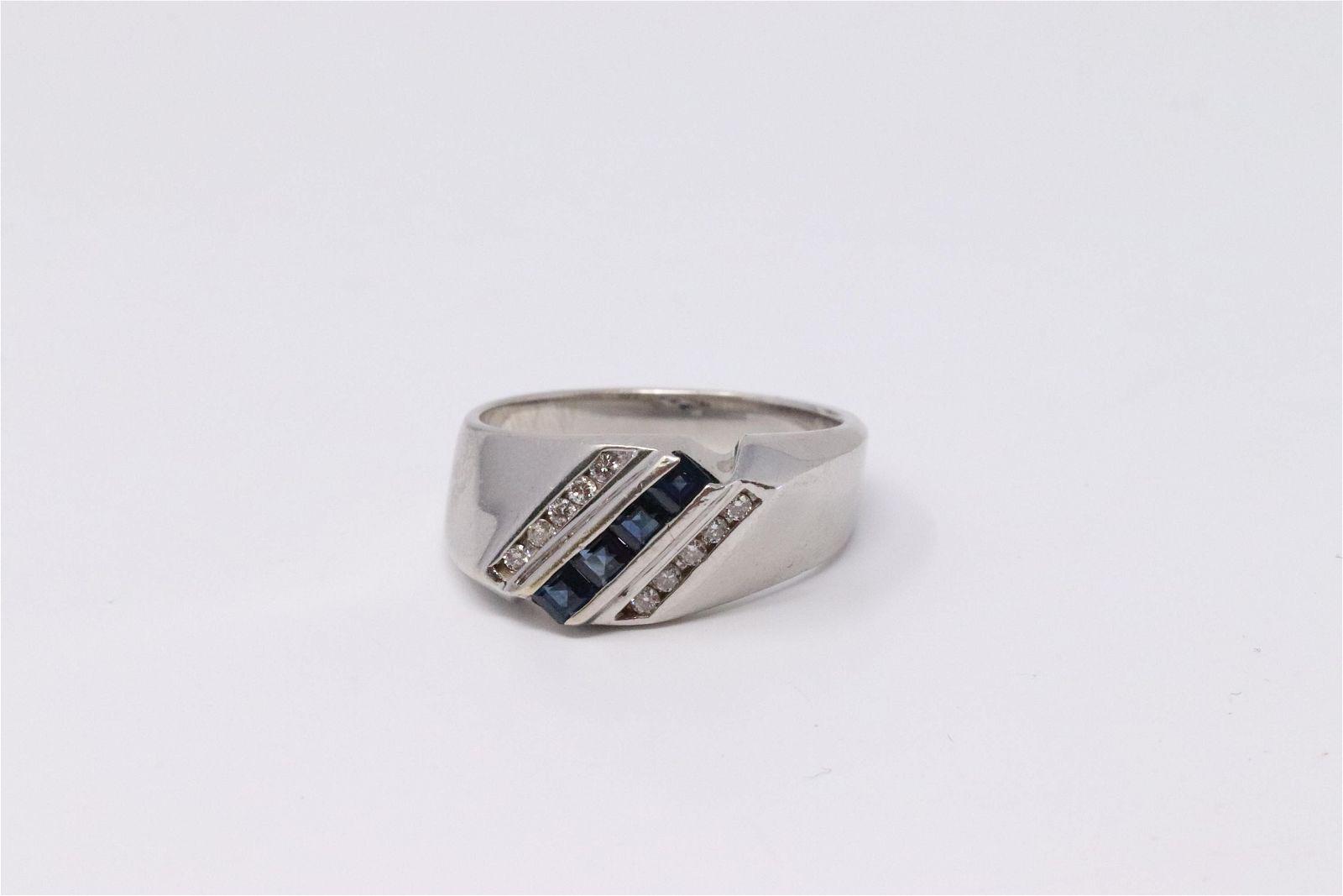 14KT Diamond/Sapphire Ring.