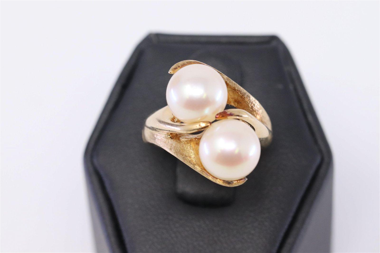 14k Ladies Pearl Ring