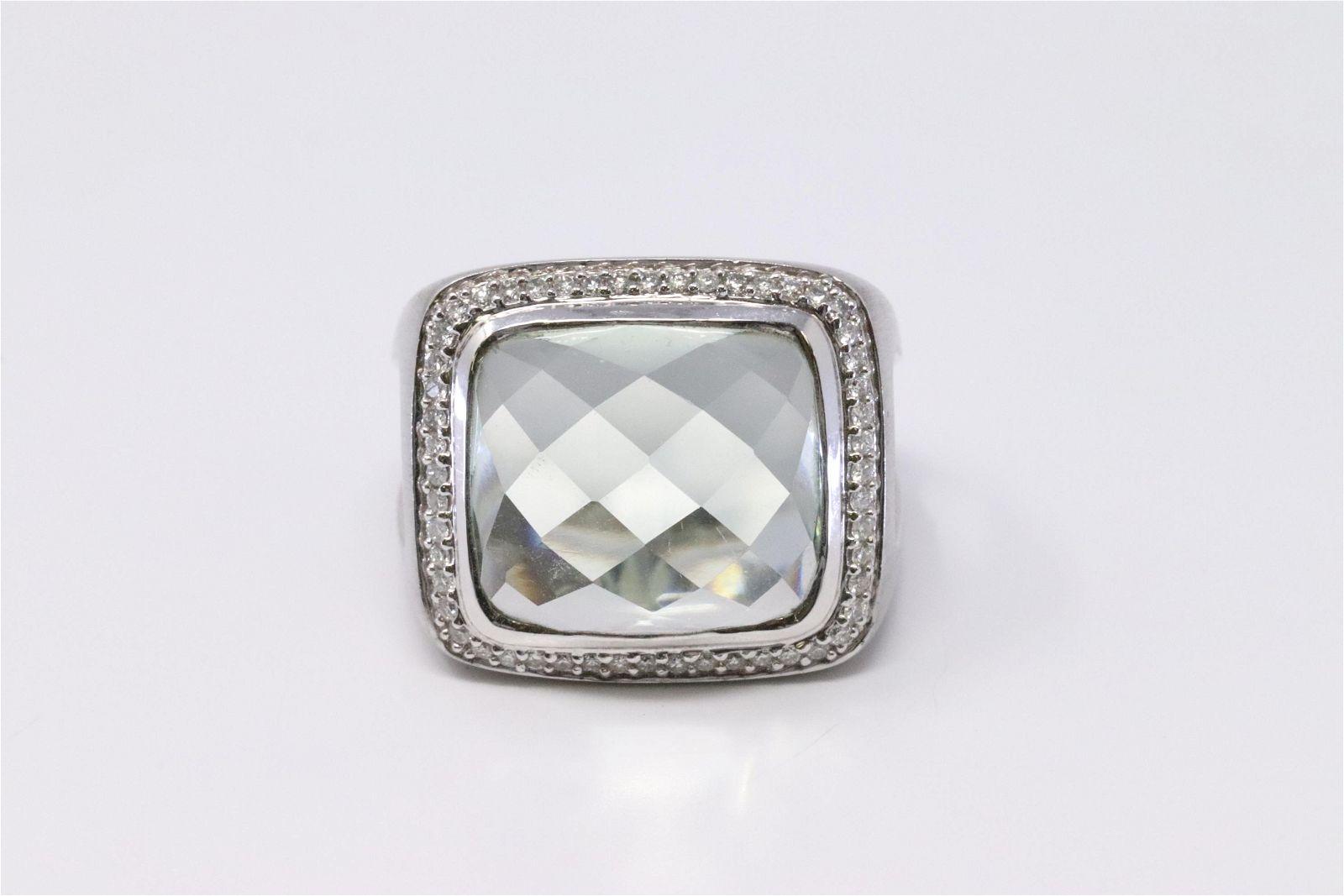 14KT Diamond Aquamarine Ring