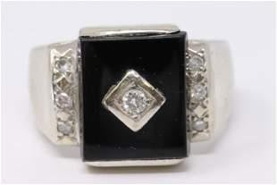 Men's Diamond / Onyx Ring