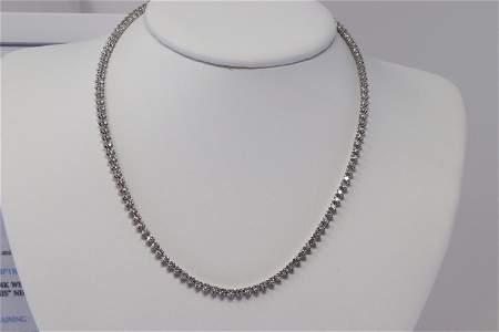 Ladies Diamond Tennis Necklace 14KT White Gold