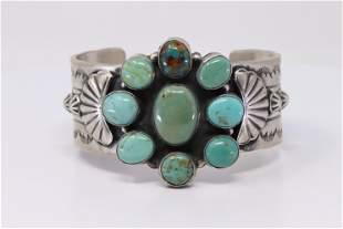 Native America Navajo Handmade Sterling Silver Kingman
