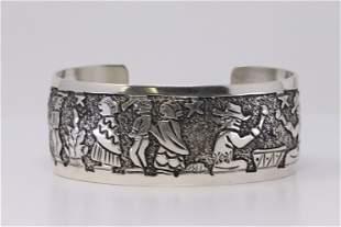Native America Navajo Handmade Sterling Silver Story