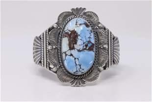 Native America Navajo Handmade Sterling Silver Golden