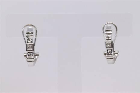 14Kt White Gold Diamond Earring's.