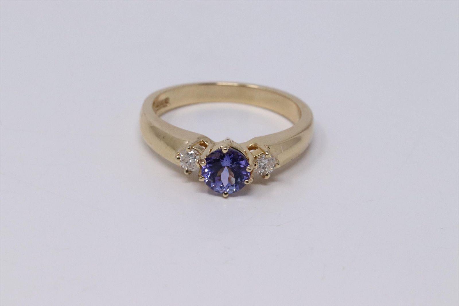 14Kt Diamonds | Tanzanite Ring