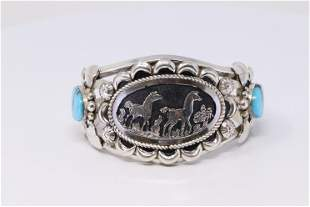 Native American Navajo Handmade Sterling Silver Horse