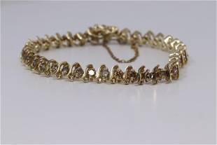 14Kt Ladies Diamond Bracelet ( 3.50ctw)