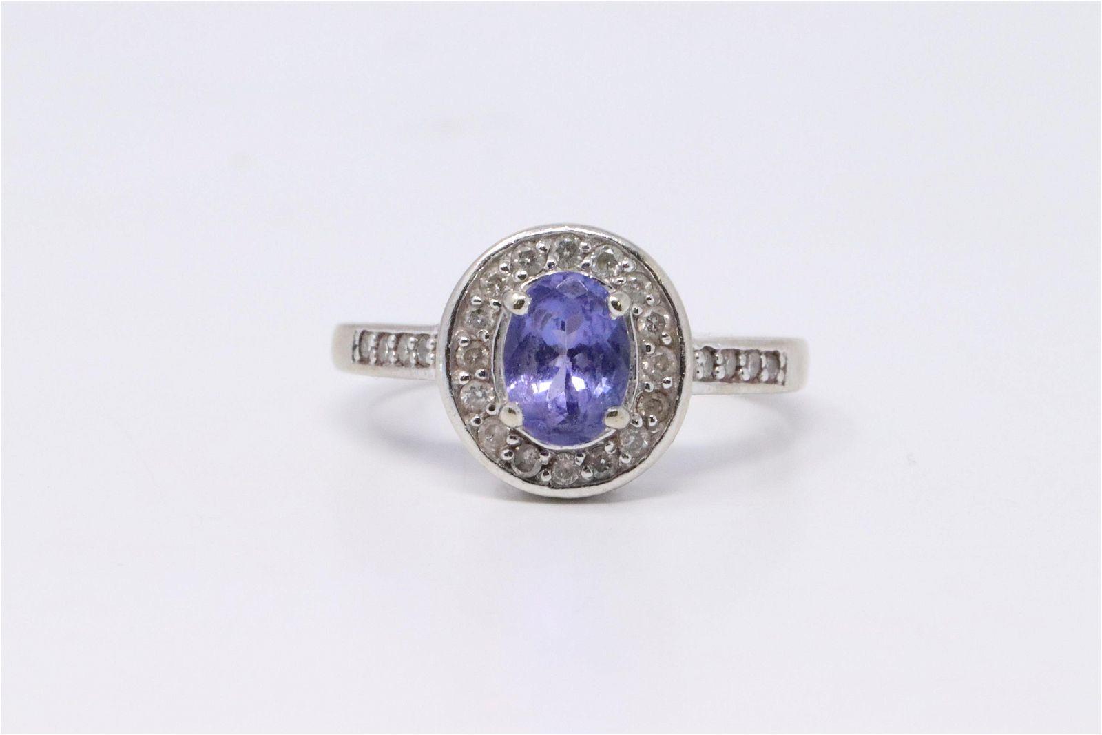 14Kt Tanzanite/ Diamond ring