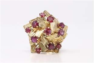 Yellow Gold Vintage Ruby Ring.