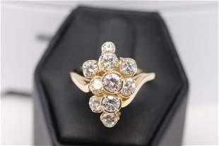 14Kt Ladies Cocktail Diamond Ring (2.50cttw)