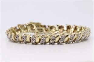 Yellow Gold Diamond Bracelet.