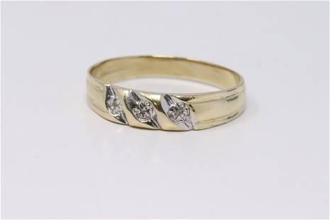 14KT Men's Yellow Gold Diamond.