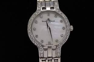 14KT Baume & Mercier Diamond Watch (Mother of Pearls)