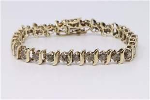 14KT Yellow Gold Diamond Bracelet (6.00cttw)
