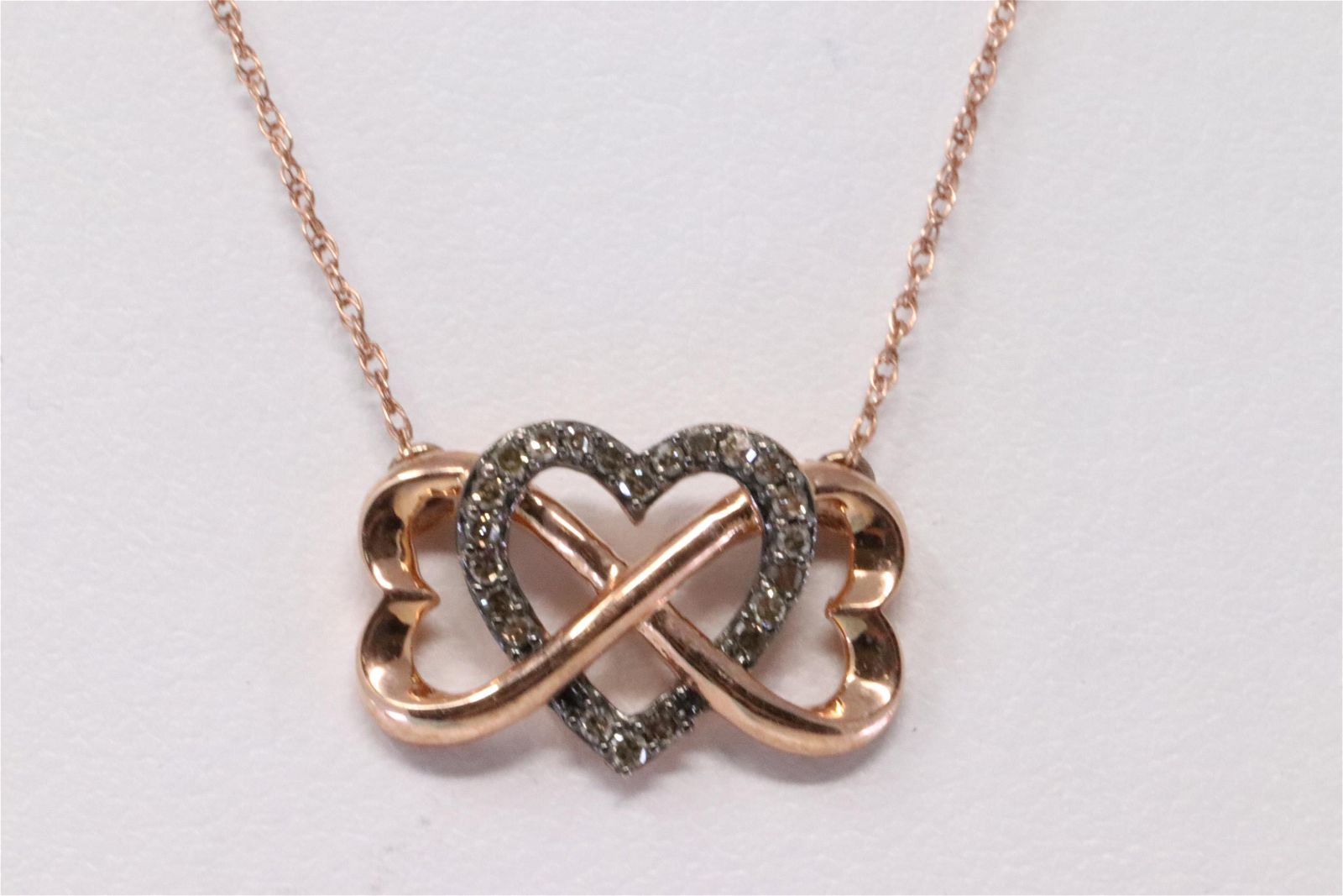 Ladies Rose Gold Diamond Ring