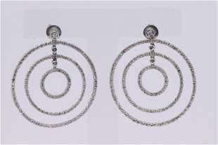 14KT White Gold Diamond Earrings 1.00ctw