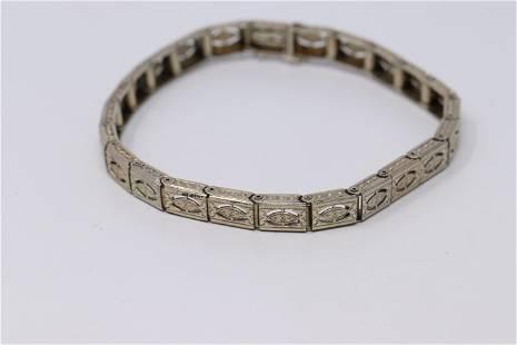 14Kt Birks Art Deco Filigree Bracelet