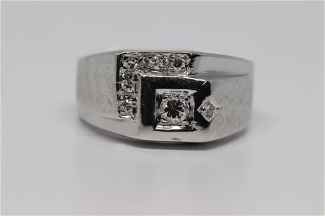 14KT Men's Diamond Ring