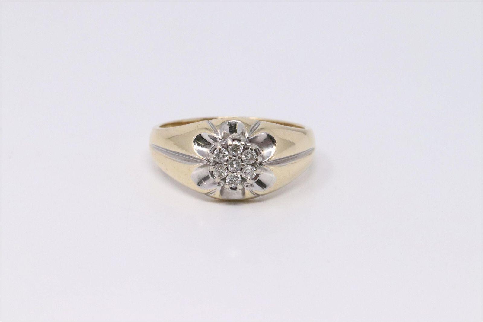 14KT Men's Diamond Ring.