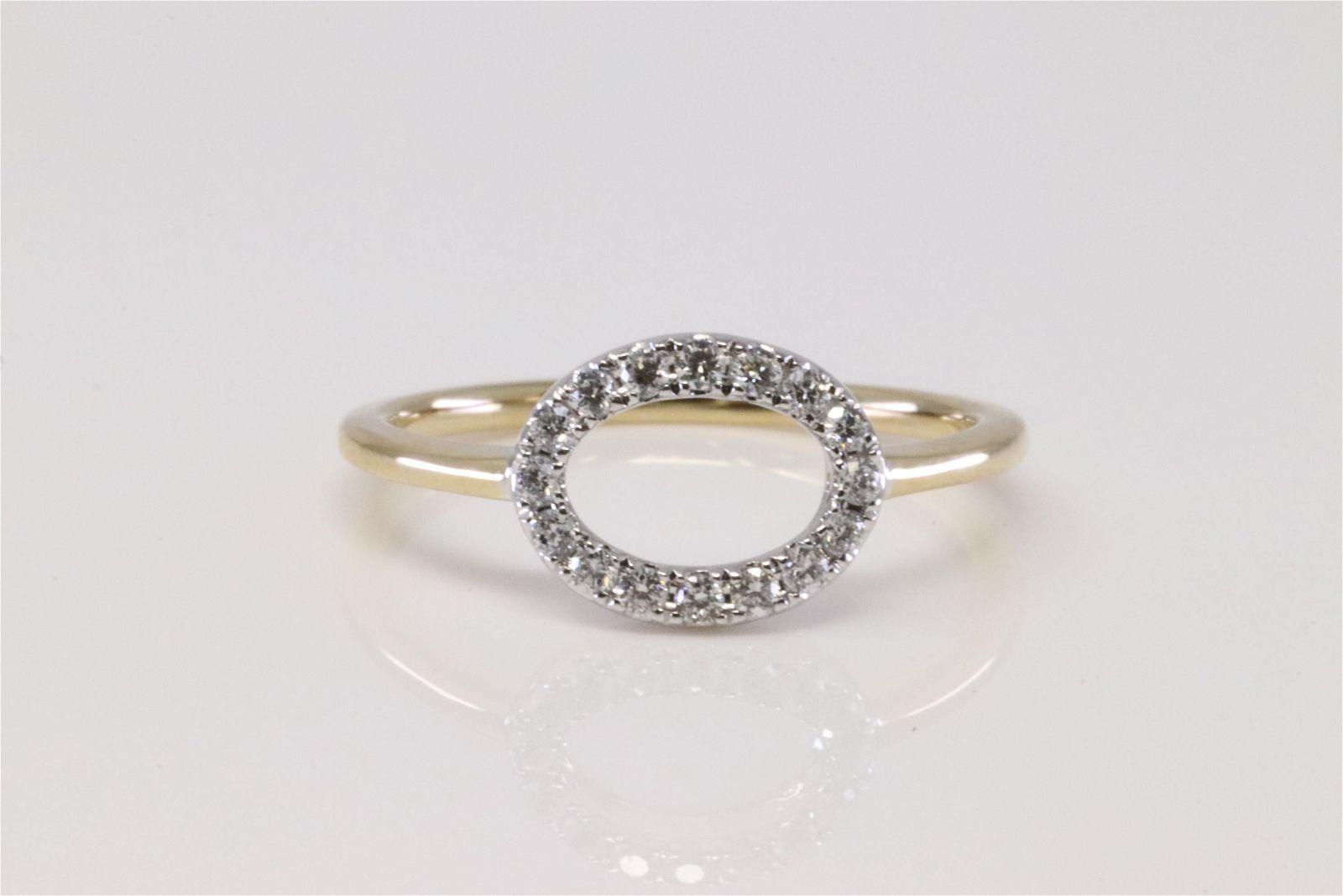 14Kt White / Yellow Gold Diamond Ring.