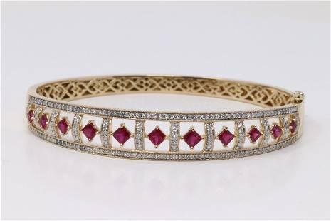 14Kt Yellow Gold Diamonds | Ruby's Bangle