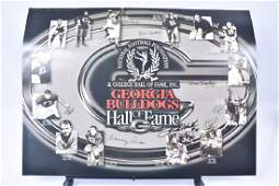 Georgia Bulldogs Hall of Fame Poster Autographed