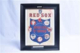 Boston Red Sox 1951 Program Mack Berra Signed