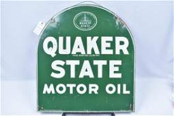 Quaker State Tombstone Sign Double Sided