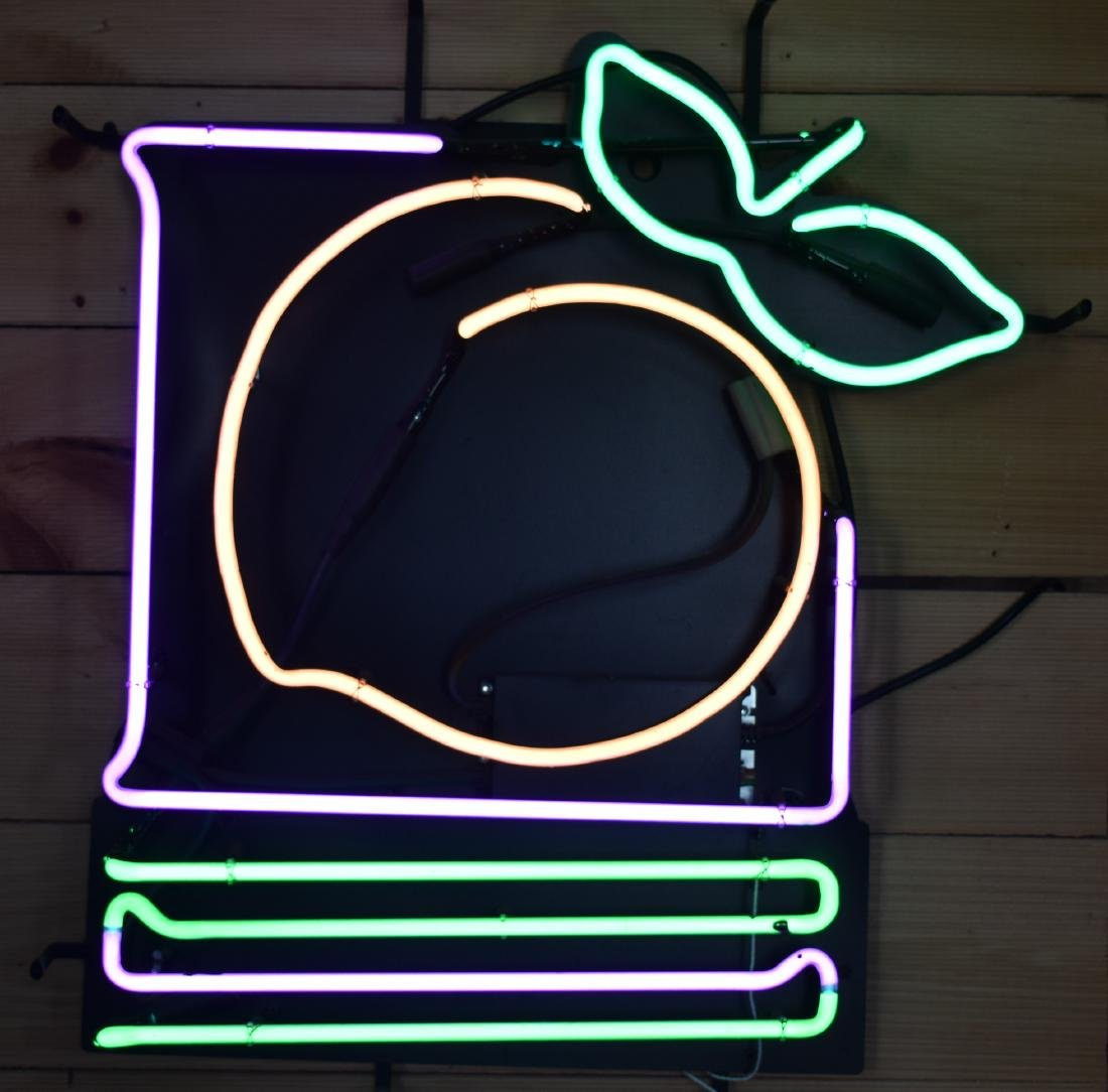 Georgia Peach Lottery Neon Sign on LiveAuctioneers