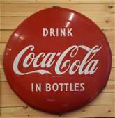 "Drink Coca Cola in Bottles Button 48"""