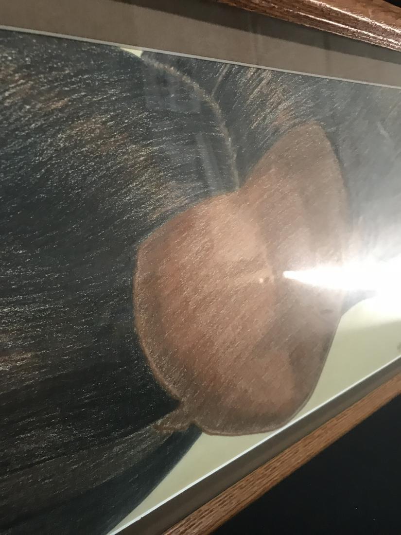 Original Drew Davis Woman with Long Hair Wood Nymph - 4