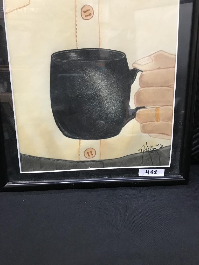 Drew Davis Original Art Signed Dated Black, No Sugar - 5
