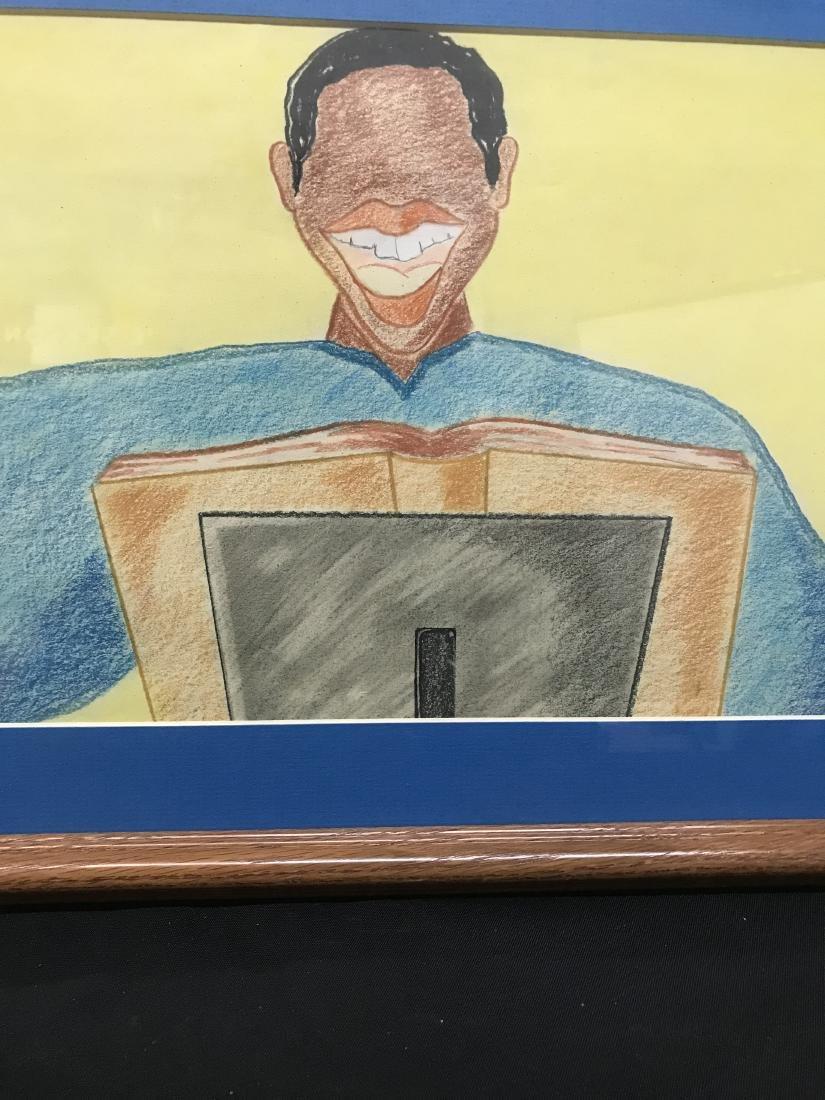 Drew Davis Original Art Signed Dated Black - 2