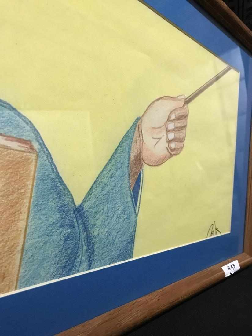 Drew Davis Original Art Signed Dated Black - 4