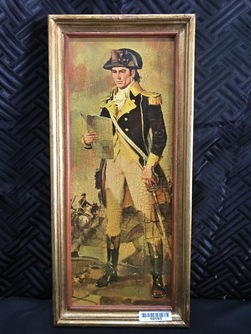Framed Print of US Commander holding Paper