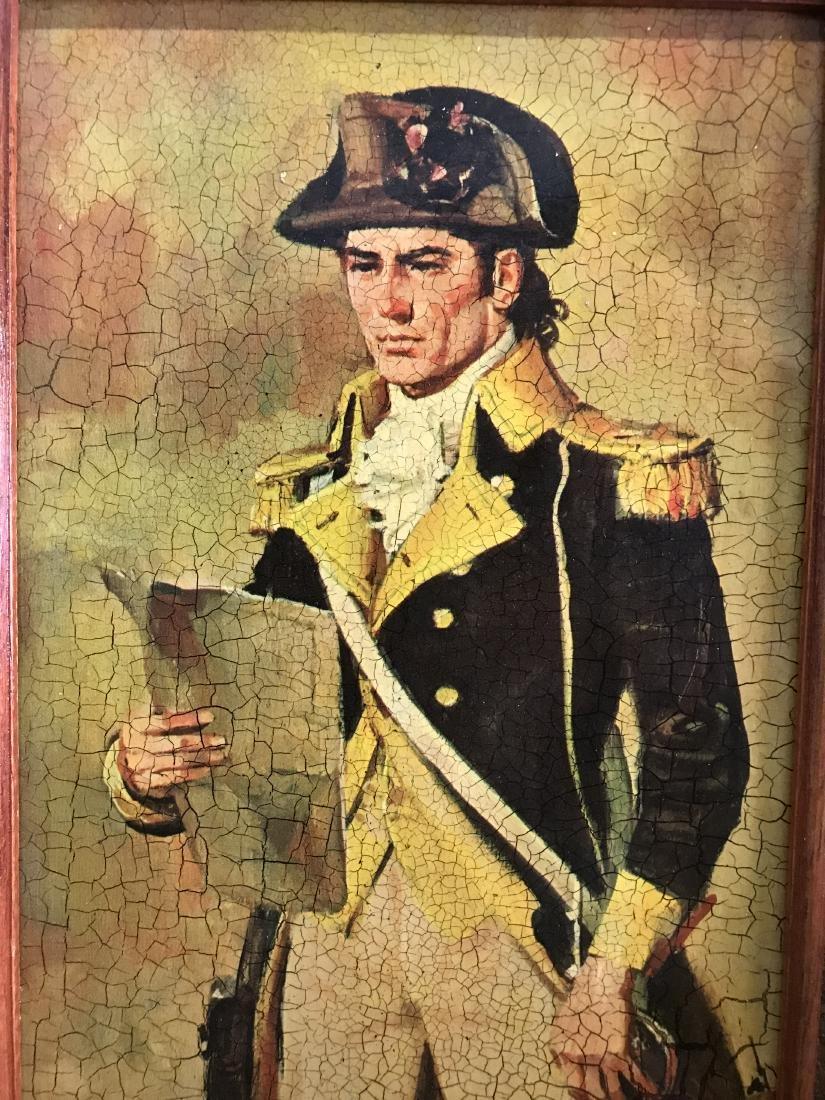 Framed Print of US Commander holding Paper - 2