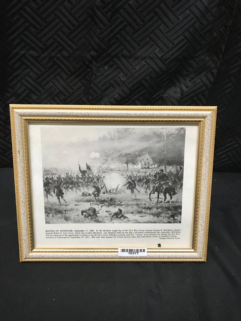 Framed Print Civil War Battle The Battle of Antietam