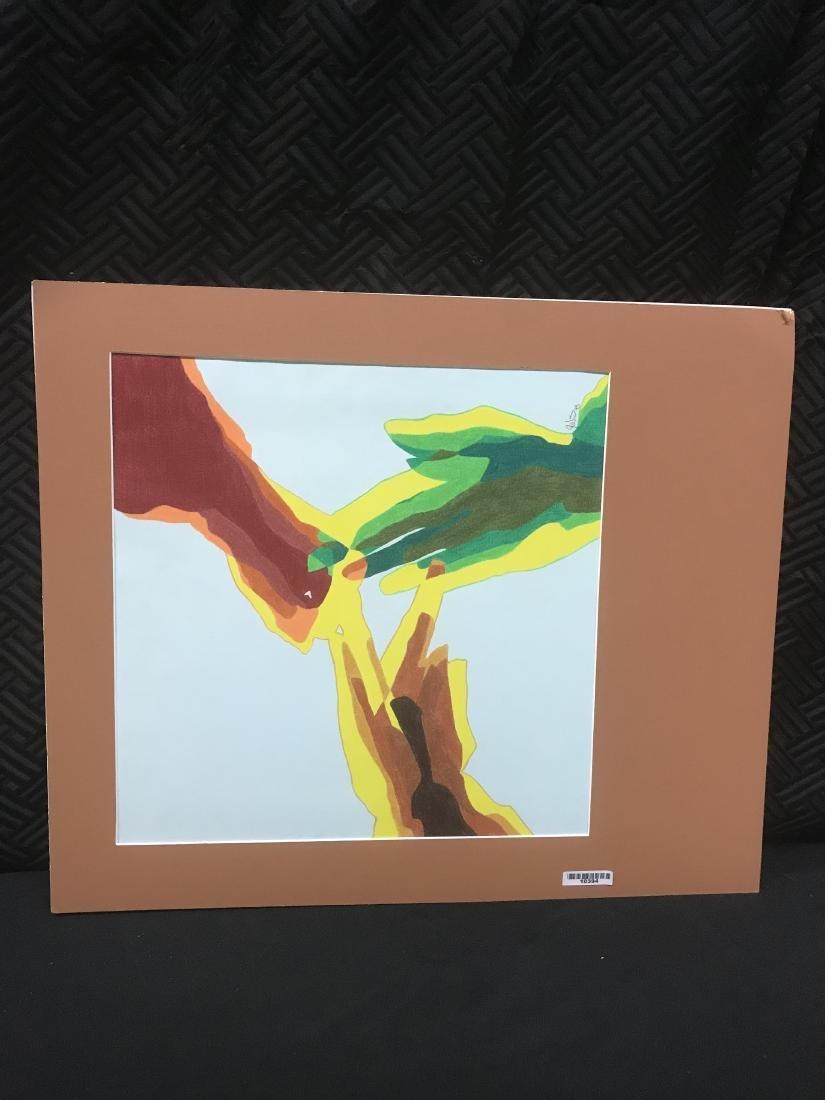 Drew Davis Original Art Signed 3 Colored Hands