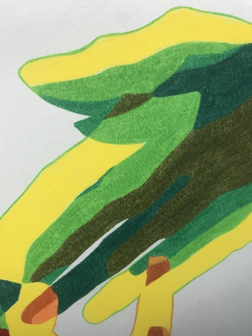 Drew Davis Original Art Signed 3 Colored Hands - 2