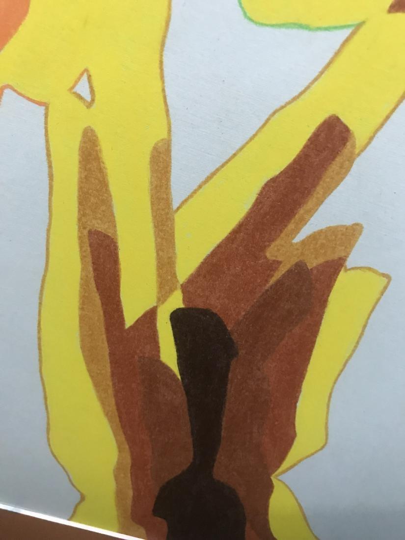 Drew Davis Original Art Signed 3 Colored Hands - 4