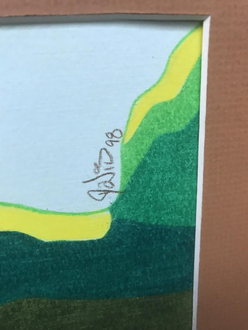 Drew Davis Original Art Signed 3 Colored Hands - 5