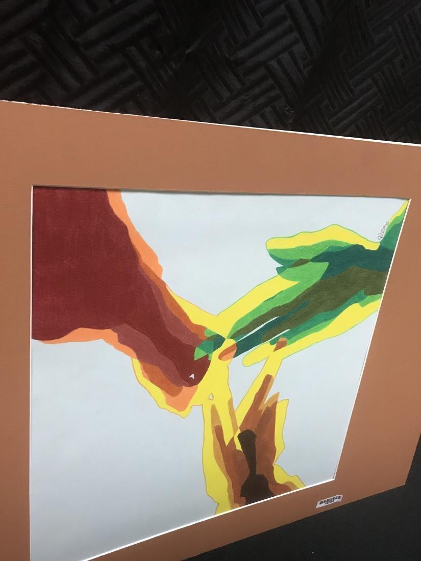 Drew Davis Original Art Signed 3 Colored Hands - 6