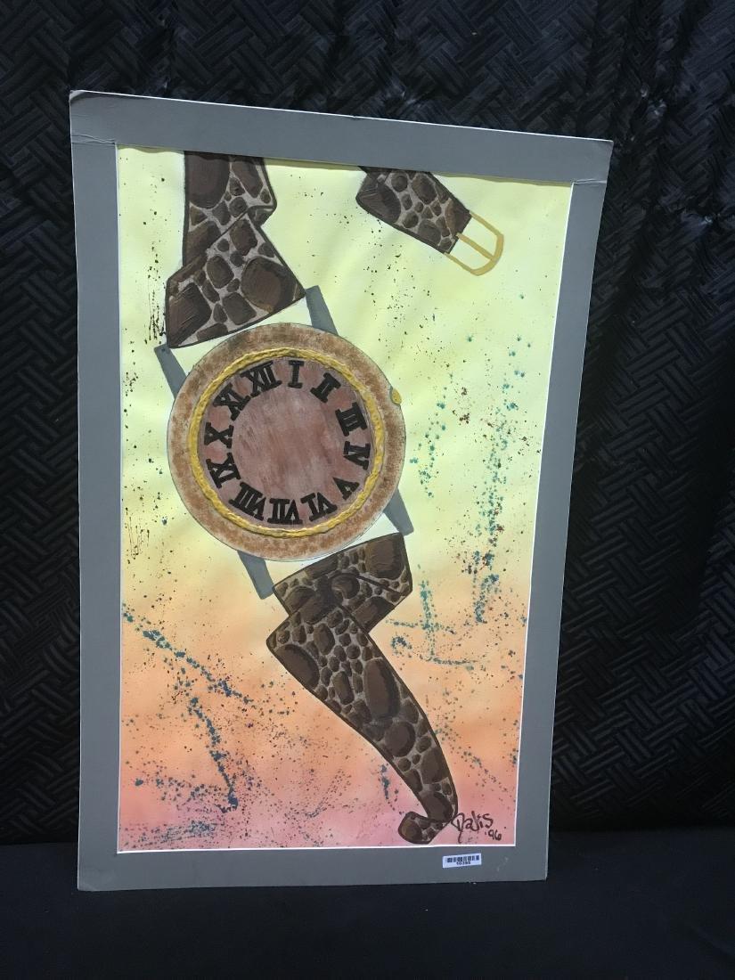 Drew Davis Original Art Signed Wristwatch with Roman