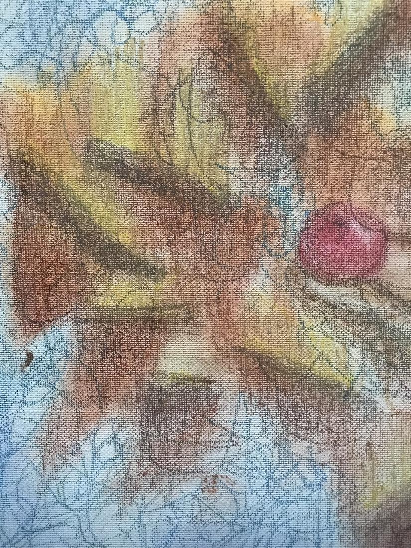 Drew Davis Original Chalk Drawing Snake Apple Tree - 2