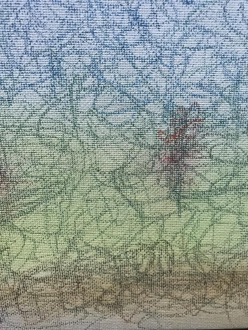 Drew Davis Original Chalk Drawing Snake Apple Tree - 3